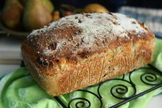 Buckwheat Bread with Pear and Hazelnut