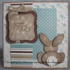 What a great Easter card! (click on photo for tutorial) That little bunny is just too cute!