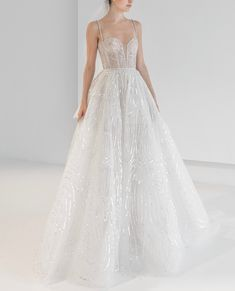 Reem Acra is a renowned international designer known for her breathtaking collections in Ready-to-Wear and Bridal. Reem Acra Wedding Dress, Reem Acra Bridal, Ethereal Wedding Dress, Long Wedding Dresses, Wedding Dress Styles, Wedding Gowns, Bridal Style, Ball Gowns, Wedding Bells