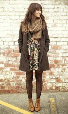 vestido floral verão no inverno - Pesquisa Google