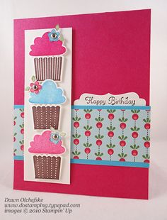 Cute Cupcaktes by dostamping - Cards and Paper Crafts at Splitcoaststampers