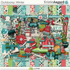 Outdoorsy: Winter - Digital Scrapbooking Kit 	by Kristin Aagard Designs
