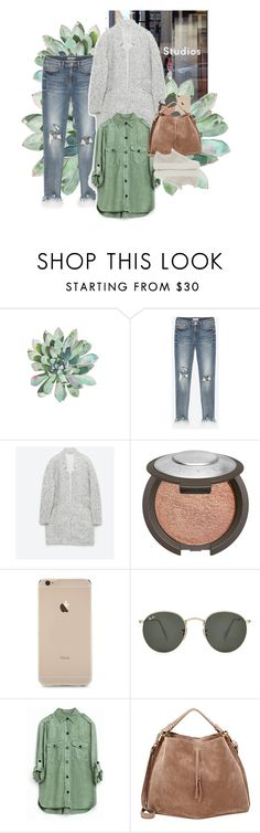 """Untitled #573"" by michaelawallen ❤ liked on Polyvore featuring Becca, Ray-Ban, Maison Margiela and Helmut Lang"