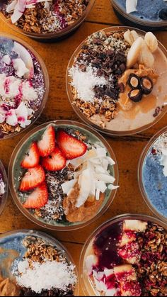 Breakfast Smoothie Recipes, Fruit Smoothie Recipes, Smoothie Bowl, Good Healthy Recipes, Healthy Food, Nutritious Meals, Food Videos, Yummy Food, Bowls