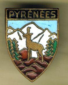 FRENCH SKI RESORT PYRENEES BADGE 2  | eBay