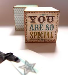 You Are So Special Block for Fathers day 2012