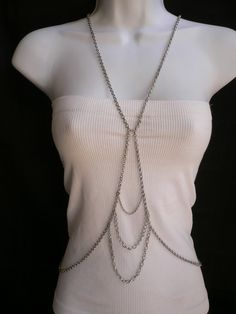 Silver Body Chain Jewelry