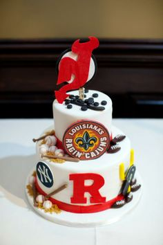 Groom's cake. Sport themed.
