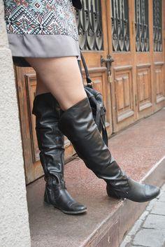 Botas azaleia, bolso negro primark, boots azaleia and handbag primark