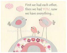 Nursery wall art Baby girl room Decor love birds by DesignByMaya, $17.00