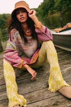 Silver Linings Pants | Free People UK 70s Outfits, Cruise Outfits, Indie Outfits, Trendy Outfits, Travel Outfits, School Outfits, Free People Clothing, Bikini Poses, Flare Pants