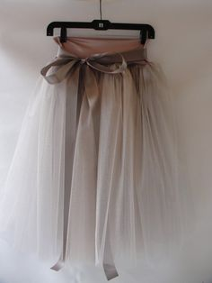dusty rose tulle skirt