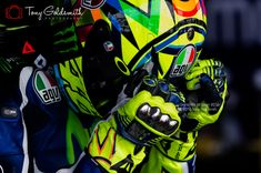 This spectacular image of MotoGP legend Valentino Rossi was captured during 2016 Grand Prix of Spain at Jerez. Photo by MotoGP photographer Tony Goldsmith.