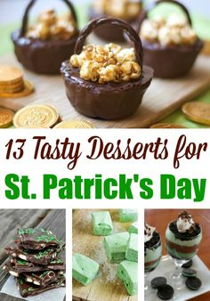 Perfect for a party, classroom treat or tasty dessert for your family to enjoy, you've got to check out these delicious St. Patrick's Day desserts!
