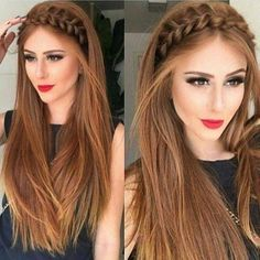 The Latest Idea of The Evening Hairstyle 2018 Fashionable chic hairstyles have the ability to create a main accent in an elegant image and allow you to make the images for the evening amazing and so magical. And do not hesitate, trendy and f. Side Braid Hairstyles, Chic Hairstyles, Wedding Hairstyles, Straight Hairstyles, Medium Hair Styles, Curly Hair Styles, Hair Upstyles, Evening Hairstyles, Grunge Hair