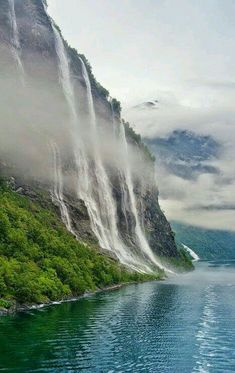 The Seven Sisters waterfall in Geiranger Norway
