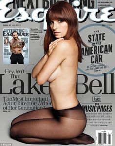 Revealing: Lake Bell reveals a hint of sexy sideboob as she poses for the May cover of Esquire magazine