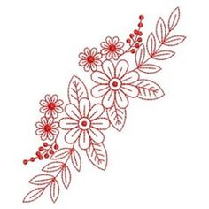 Sweet Heirloom Embroidery Design: Floral Elegance Border 3.80 inches H x 3.20 inches W