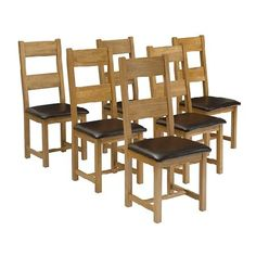 Rustic Oak Set of 6 Leather Seat Ladderback Quality wooden furniture at great low prices from PineSolutions.co.uk. Get Free Delivery and Exchanges on all orders. http://www.MightGet.com/january-2017-11/rustic-oak-set-of-6-leather-seat-ladderback.asp