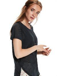 T-shirt avec base incurvée   T-shirts mc   Habillement Femme Scotch & Soda