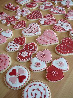My Valentine cookies. Buttercookies covered with Royal icing and some. : My Valentine cookies. Buttercookies covered with Royal icing and some. Valentine's Day Sugar Cookies, Fancy Cookies, Iced Cookies, Cute Cookies, Cupcake Cookies, Cookies Et Biscuits, Heart Cookies, Party Cupcakes, Cookie Favors