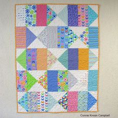 Freemotion by the River blog Bird's Eye View Quilt from Fat Quarter Shop Quilt Book