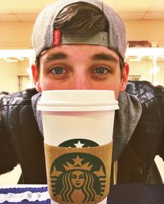 My two favorite things: Newsies and Starbucks ❤️