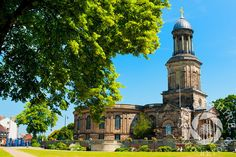 A view of St Chad's Church from the Quarry, #Shrewsbury, #Shropshire, England.