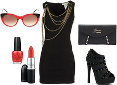 """Pop of Red"" by dressupdiva on Polyvore"