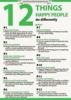 Healthy Mind: 12 Things Happy People Do Differently