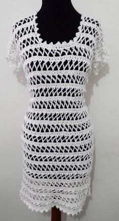 Noemi Fonseca Vestido Branco Cisne Glam em Crochê