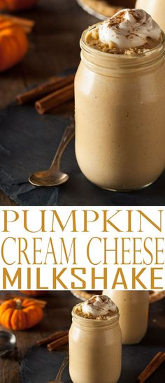 Pumpkin Cream Cheese Milkshake. Pumpkin Pie Milkshake is delicious and the perfect way to enjoy pumpkin fall flavors. Enjoy this and more fall flavor recipes.
