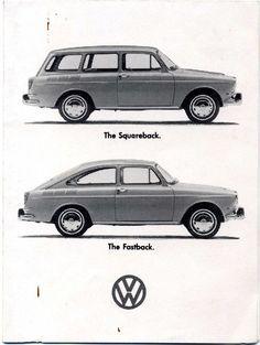vw squareback (Variant) & the fastback (TL). Audi, Porsche, Vw Variant, Volkswagen Type 3, Vw Classic, Mercury Cars, Peugeot, Car Advertising, Vw Group