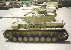 Panzer IV with Arabic writing. Israeli and Arab forces have both used German equipment throughout different conflicts with each other. Panzer Iv, World Tanks, Tank Armor, Armored Fighting Vehicle, Military Modelling, Ww2 Tanks, Battle Tank, Military Equipment, Interesting History