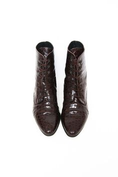 LEATHER BROWN LACE UP BOOTS via collection Nº2. Click on the image to see more!