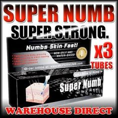 3x 10g Super Numb by bodyjewelers.net. $14.90. numome numbs. thermal. ultrasonic cleaner. tattoos. skin fast. Super Numb is a maximum strength anesthetic tattoo cream. Super Numbs activates fast and can be used for tattooing, body piercing, body waxing, bikini waxing, laser hair removal, and cosmetic tattooing.