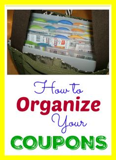Couponing 101 - A Step by Step Guide for Beginners: Lesson 3 - How to Organize Your Coupons - Thrifty Jinxy Extreme Couponing Tips, How To Start Couponing, Couponing For Beginners, Couponing 101, Coupon Binder Organization, Organization Ideas, Dollar General Digital Coupons, Where To Get Coupons, Für Dummies