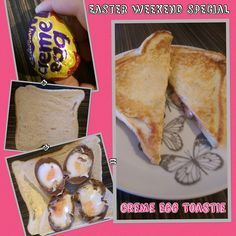 Cadbury Crème Egg Toastie. A tasty egg-speriment this Easter weekend and despite a lot of objection I can personally say it was delicious