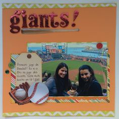 Giants scrapbook layout