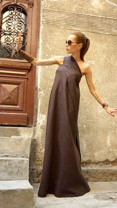 XXL XXXL nueva Maxi marrón vestido vestido Kaftan ropa por Aakasha