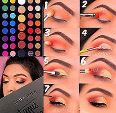 25 trendy Ideas eye makeup tutorial morphe can find Makeup looks with james charles palette and more on our trendy Ideas eye makeup tutorial morphe Makeup Eye Looks, Eye Makeup Steps, Cute Makeup, Eyeshadow Looks, Makeup Eyeshadow, Makeup Brushes, Morphe Eyeshadow, Creepy Makeup, Neutral Eyeshadow