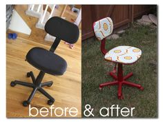 craft room chair make-over