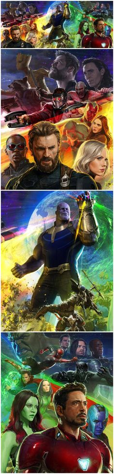 Avengers: Infinity War - HQ posters by Marvel's Head of Visual Development & concept artist Ryan Meinerding