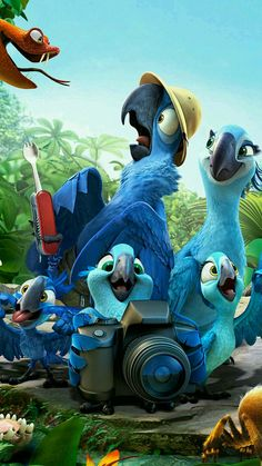 Movie Quotes from Rio 2 Film Rio, Rio Movie, Disney Kunst, Disney Art, Disney Movies, Walt Disney, Cute Cartoon Wallpapers, Movie Wallpapers, Drawing Cartoon Characters