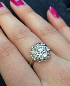 Antique Style Engagement Rings, Art Deco Wedding Rings, Wedding Rings Vintage, Vintage Rings, Diamond Engagement Rings, Wedding Bands, 3 Stone Diamond Ring, Wedding Inspiration, Wedding Ideas