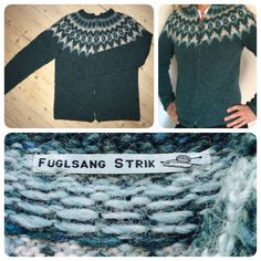 Trøje med lynlås strikket i Lett Lopi fra Istex