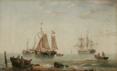 One of a pair of oil paintings by H; redmore dated framed and unglazed showing a beach scene with a number of vessels at sea Norfolk Museums & Archaeology Service Great Yarmouth, My Family History, Art Uk, Beach Scenes, Your Paintings, Norfolk, Painting Inspiration, Archaeology, Oil On Canvas