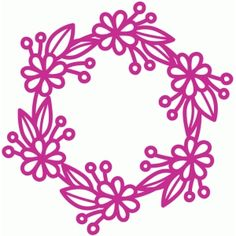 Silhouette Design Store - View Design #83383: round floral frame
