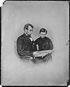 President Abraham Lincoln and Tad Lincoln by The U.S. National Archives, via Flickr