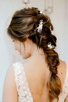 Side Hairstyles, Bohemian Hairstyles, Headband Hairstyles, Vintage Hairstyles, Summer Hairstyles, Wedding Hairstyles Half Up Half Down, Wedding Hair Flowers, Dream Hair, Hair Designs
